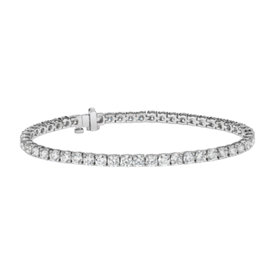 Bracelet tennis diamants en or blanc 18 carats - F / VS (8 carats, poids total)