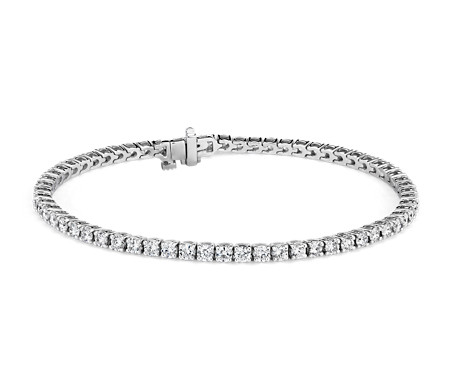 Diamond Tennis Bracelet in 18k White Gold (3.96 ct. tw.) - F / VS