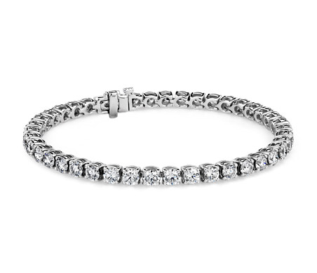 Bracelet tennis diamants en or blanc 18 carats (9,96 carats, poids total)- F/VS