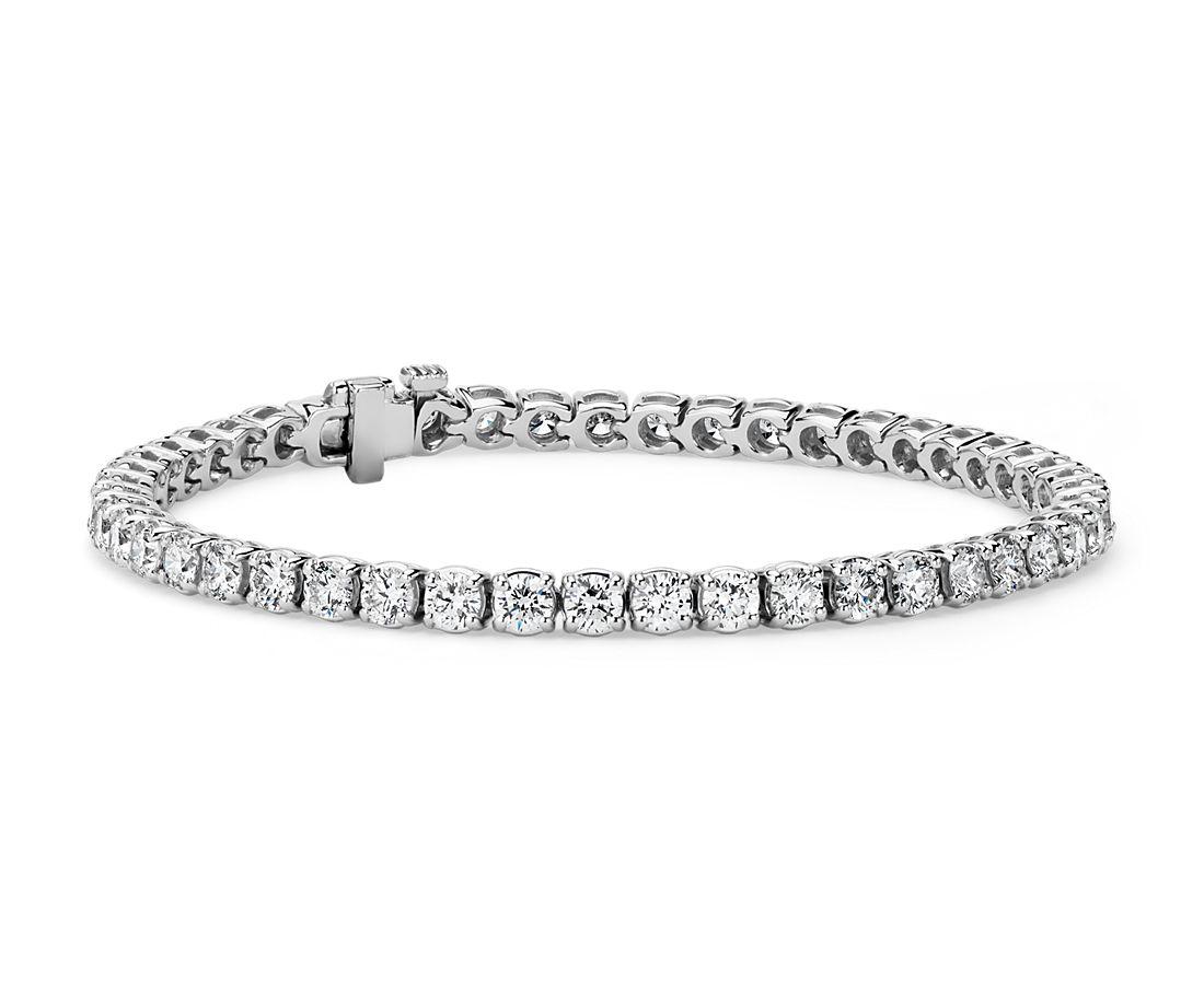 Diamond Tennis Bracelet in 18k White Gold- F/SI2 (7 ct. tw.)