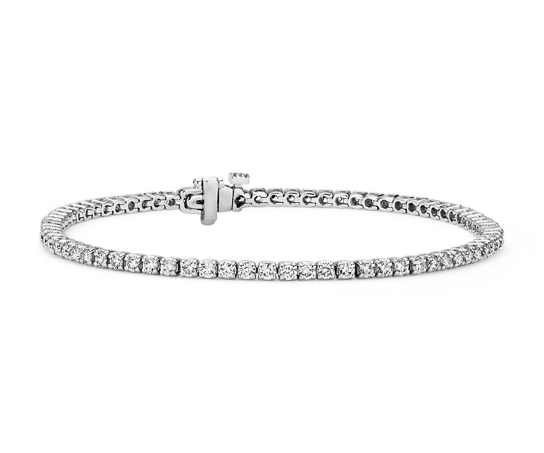 Diamond Tennis Bracelet in 18k White Gold- F/SI2 (2 ct. tw.)