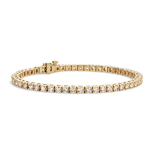Diamond Tennis Bracelet In 18k Yellow Gold 4 Ct Tw