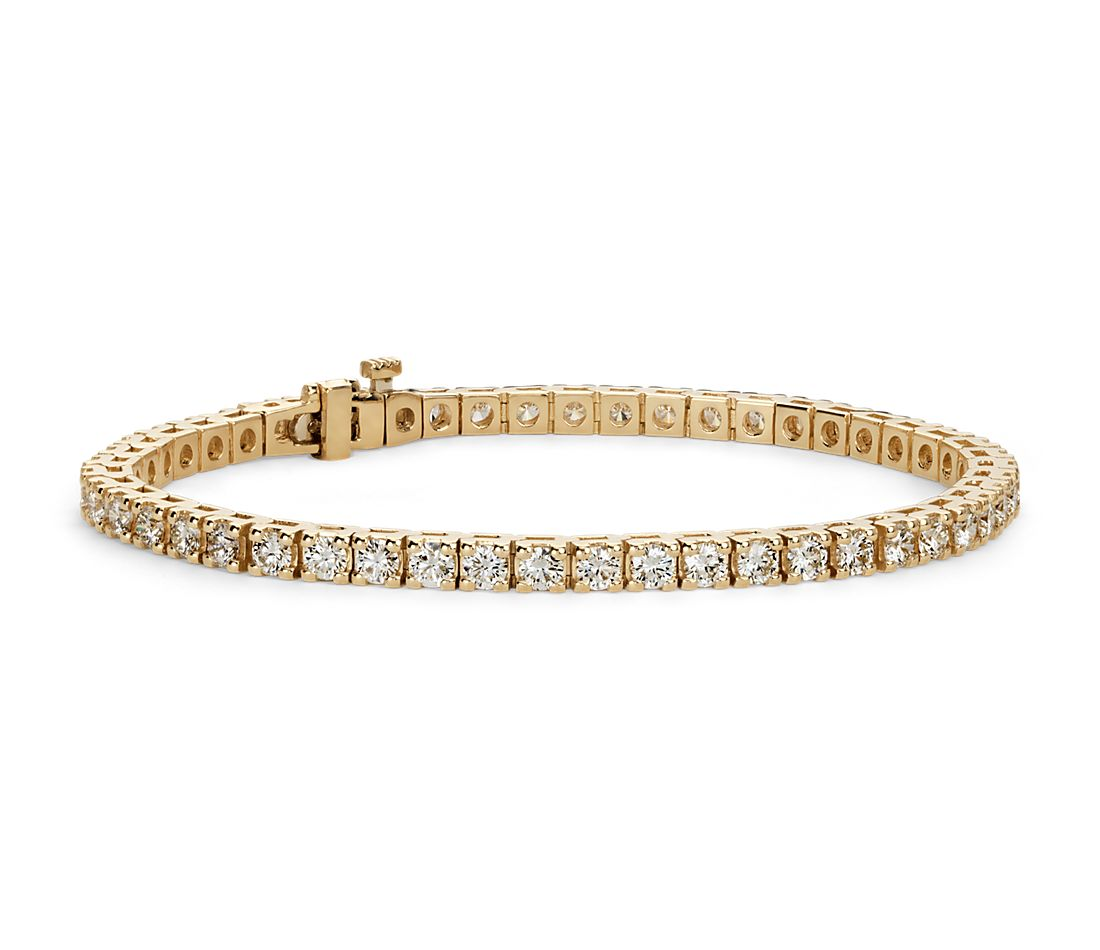 Diamond Tennis Bracelet In 18k Yellow Gold 5 Ct Tw