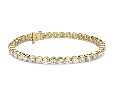 Bracelet tennis diamants en or jaune 18 carats (8 carats, poids total)