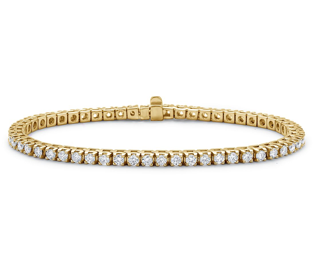 Diamond Tennis Bracelet In 18k Yellow Gold 3 Ct Tw