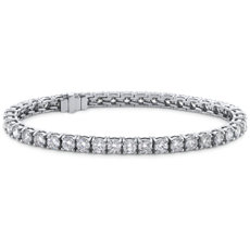 NEW Blue Nile Signature Ideal Cut Diamond Tennis Bracelet in Platinum (6.96 ct. tw.)