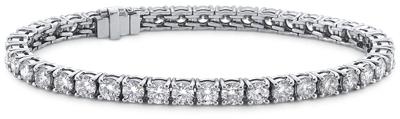 Blue Nile Signature Ideal Cut Diamond Tennis Bracelet In Platinum 6 96 Ct Tw Blue Nile