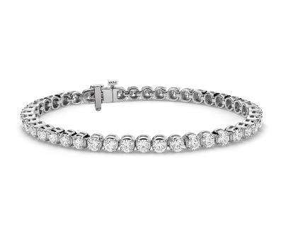 铂金上乘钻石手链<br>(7 克拉总重量)
