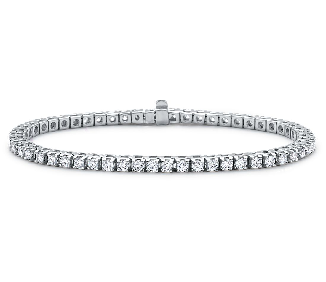 Diamond Tennis Bracelet In 18k White