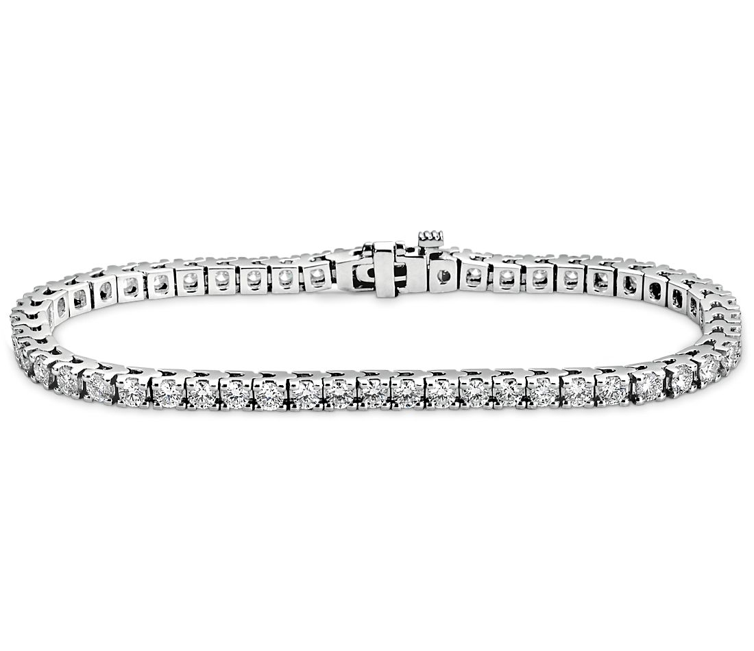 Diamond Tennis Bracelet In 18k White Gold 4 Ct Tw
