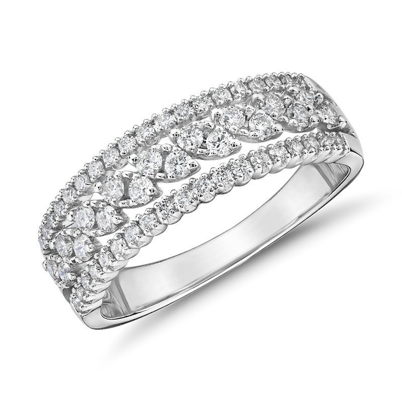Diamond Triple-Row Marquise-Shaped Fashion Ring  (1/2 ct. tw.)