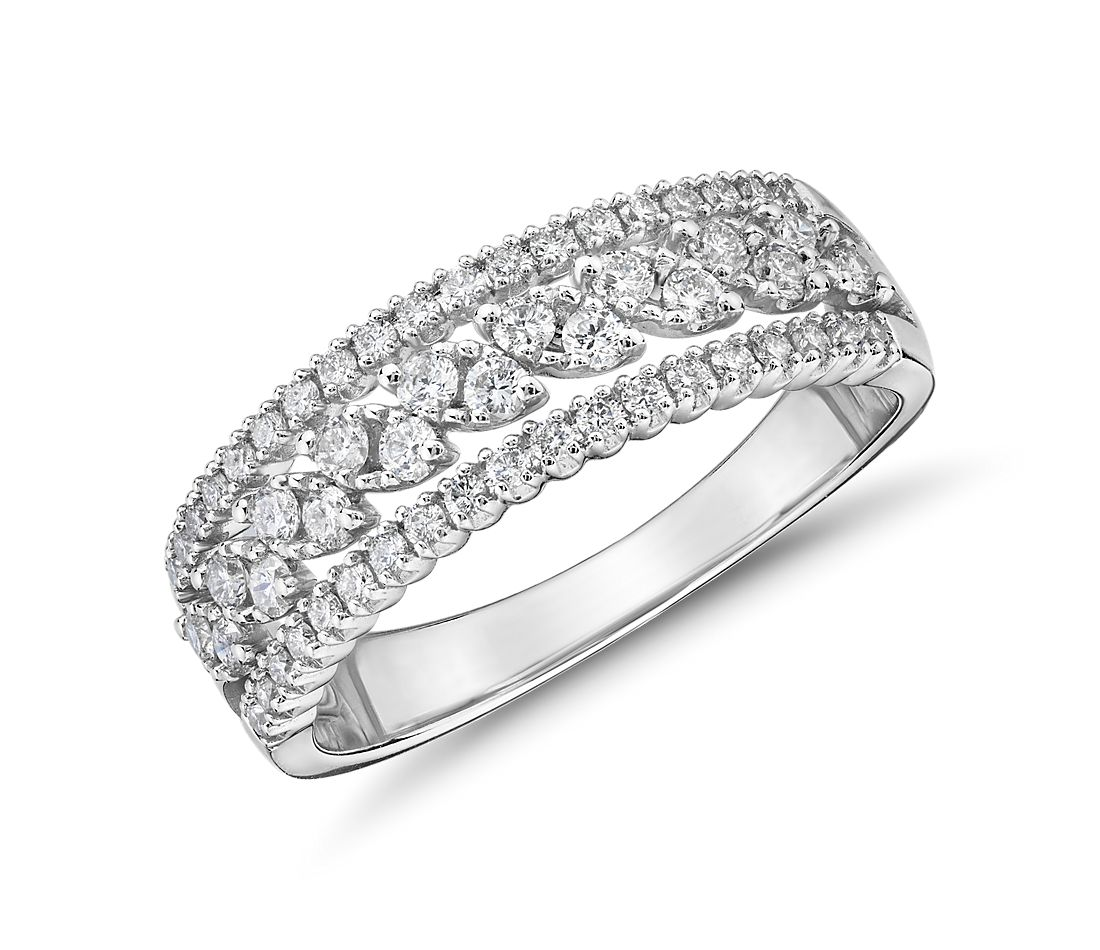 Diamond Triple-Row Marquise-Shaped Fashion Ring  (.45 ct. tw.)
