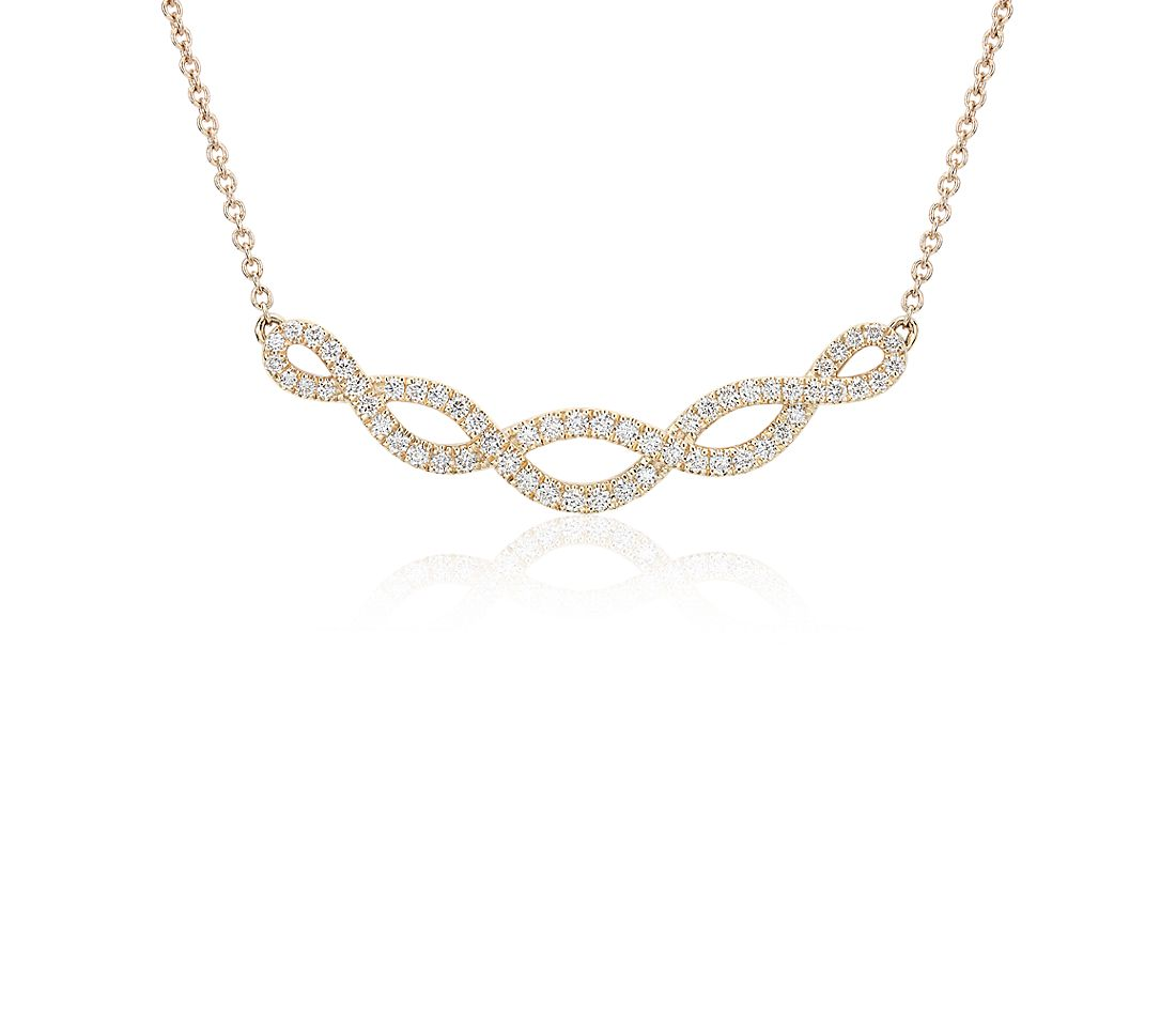 Colin Cowie Diamond Eternal Twist Diamond Necklace in 14k Yellow Gold (1/3 cttw)