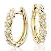 Blue Nile Studio Diamond Wave Hoop Earrings in 18k Yellow Gold (3/8 ct. tw.)
