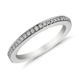 Bague en diamants sertis pavé en or blanc 18carats (1/6carat, poids total)