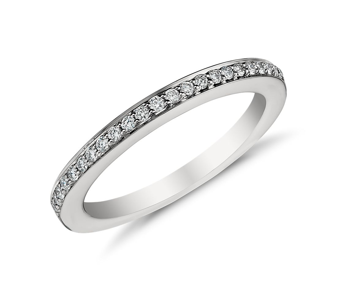 Pavé Diamond Ring in Platinum (1/6 ct. tw.)