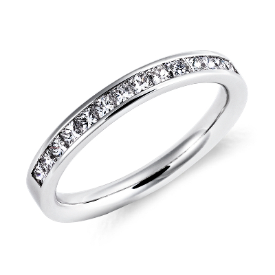 ChannelSet PrincessCut Diamond Ring in Platinum 12 ct tw