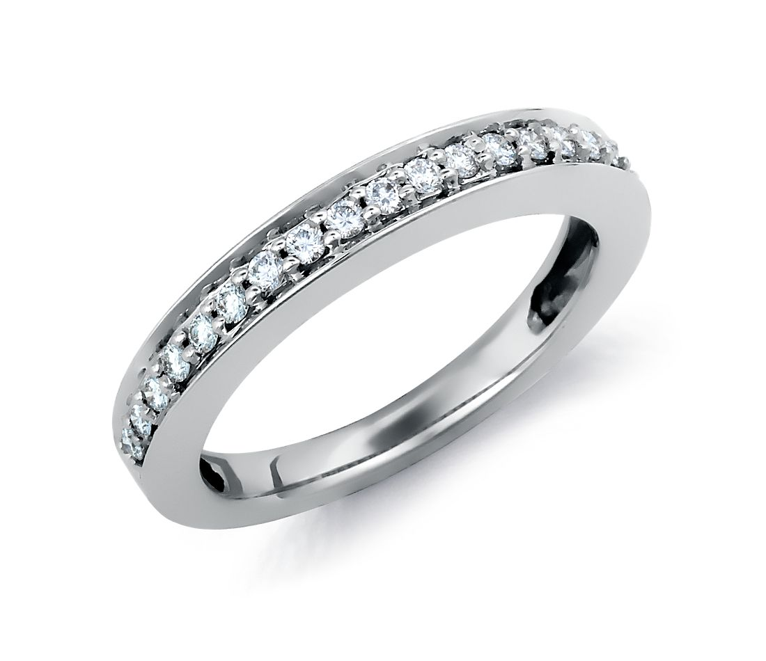 pav 233 set wedding ring in 18k white gold blue nile