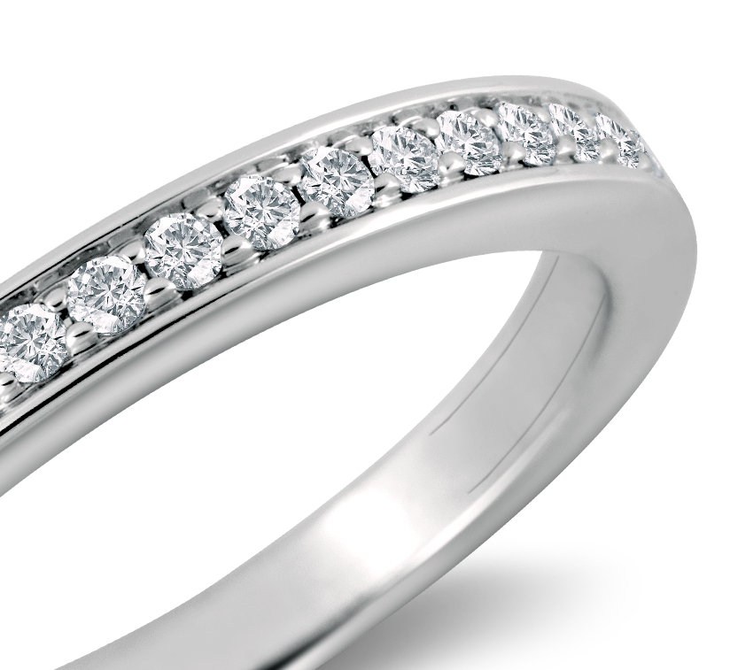 Cathedral Pavé Diamond Ring in 18k White Gold (1/5 ct. tw.)