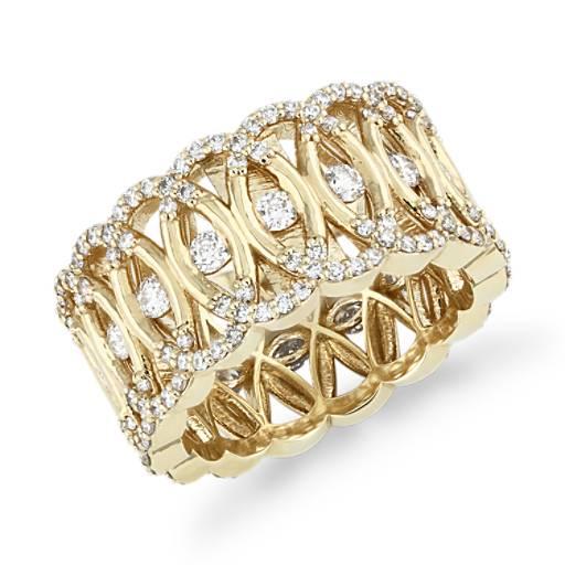 Bella Vaughan Woven Lace Diamond Eternity Ring In 18k