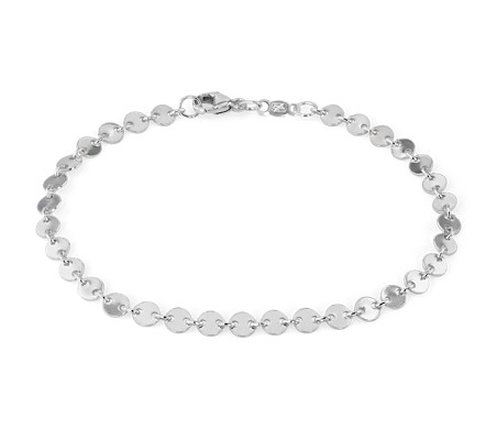 Disc Chain Bracelet in Sterling Silver