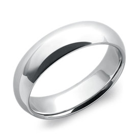 Comfort Fit Wedding Band in Platinum (6mm)