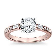 Dot Dash Diamond Engagement Ring in 14k Rose Gold (0.23 ct. tw.)