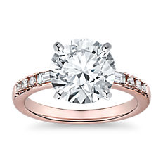 Dot Dash Diamond Engagement Ring in 14k Rose Gold (0.23 ct. tw.)