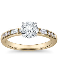 Dot Dash Diamond Engagement Ring in 14k Yellow Gold (1/5 ct. tw.)