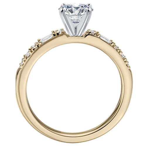 Dot Dash Diamond Engagement Ring