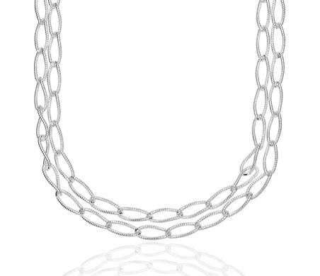 sterling chain curb necklace silver