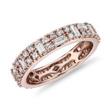 NEW Double Dot Dash Diamond Eternity Ring in 14k Rose Gold (1.33 ct. tw.)