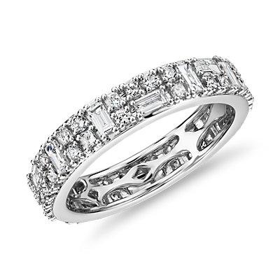 Double Dot Dash Diamond Eternity Ring in 14k White Gold (1 1/3 ct. tw.)
