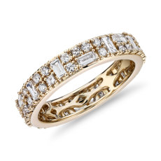 NEW Double Dot Dash Diamond Eternity Ring in 14k Yellow Gold (1.33 ct. tw.)