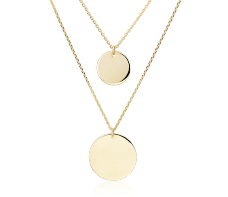 is double michael gold us tone pendant necklace strand r kors