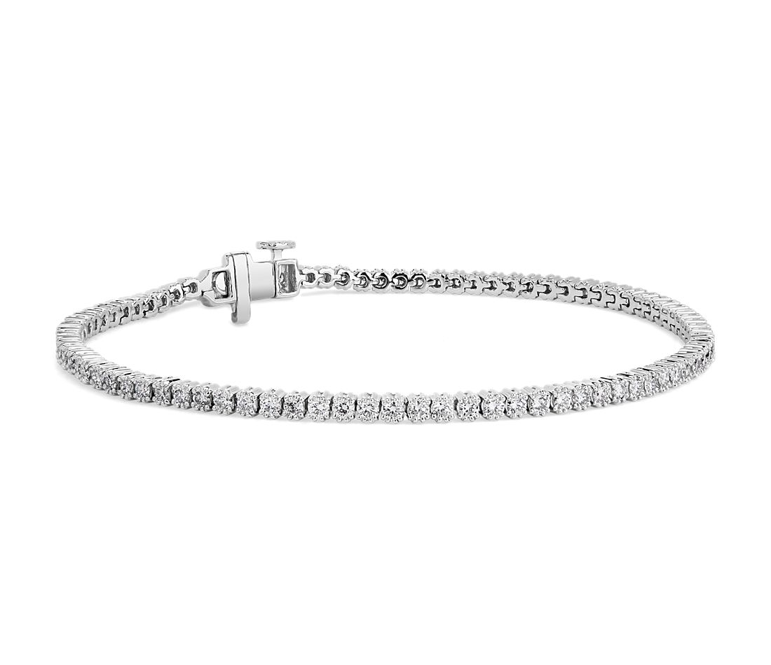 Nouveau Diamond Tennis Bracelet in 18k White Gold - F/SI2 (2 ct. tw.)