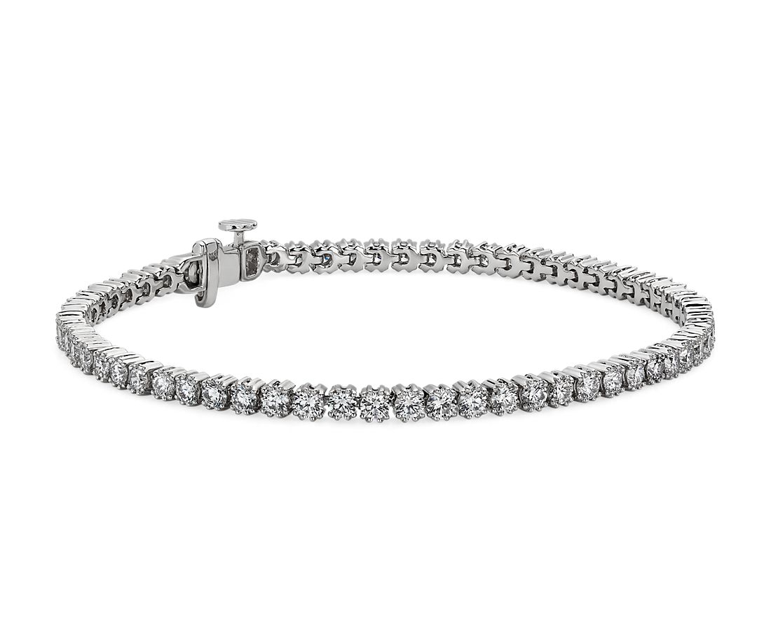 Nouveau Diamond Tennis Bracelet in 18k White Gold - F/SI2 (4 ct. tw.)