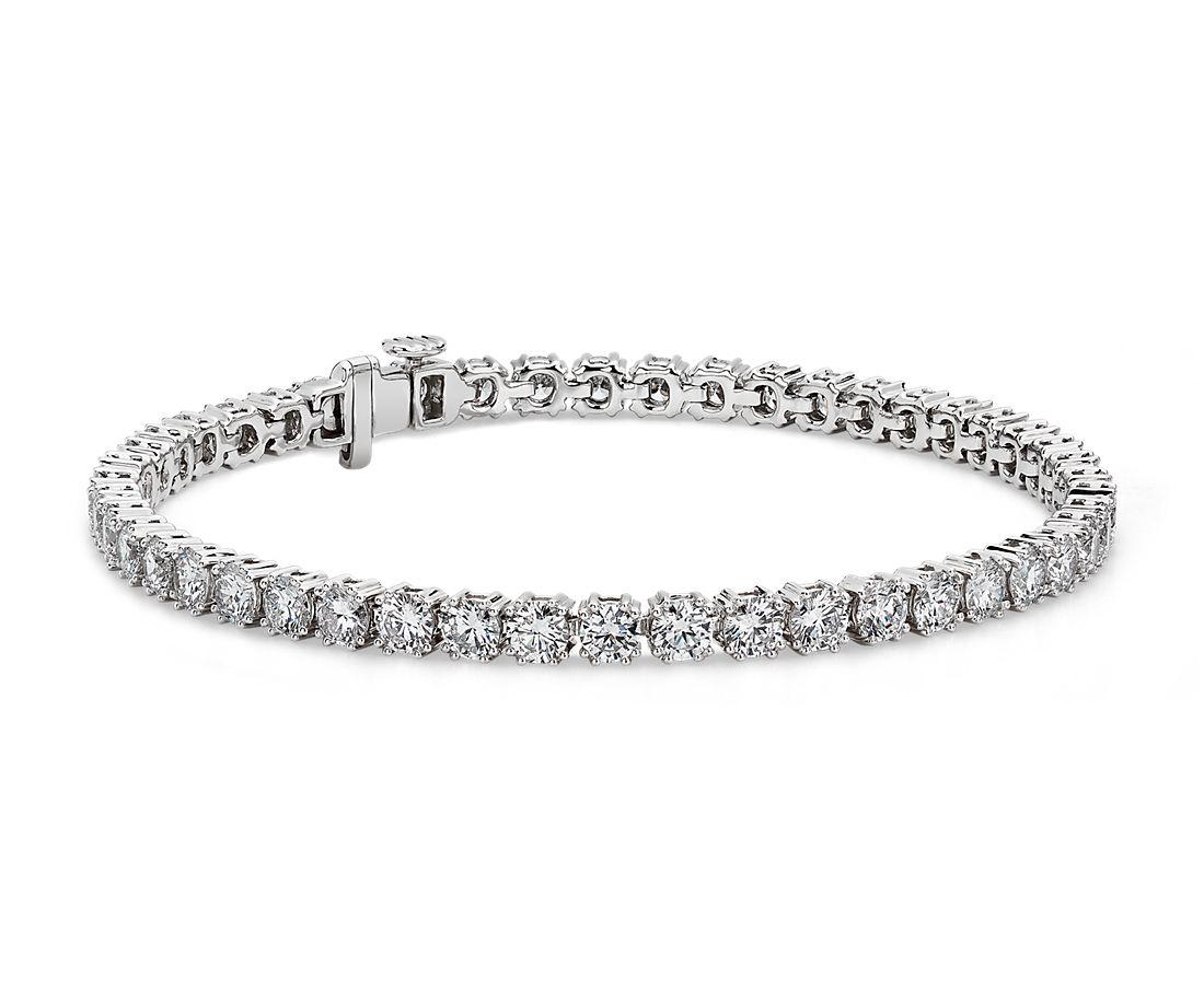 Nouveau Diamond Tennis Bracelet in 18k White Gold (7.11 ct. tw.)