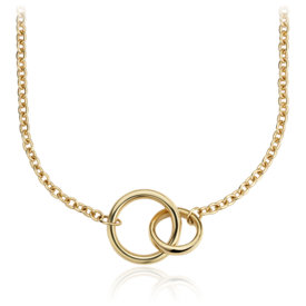 NEW Forever Together Double Ring Necklace in 14k Yellow Gold