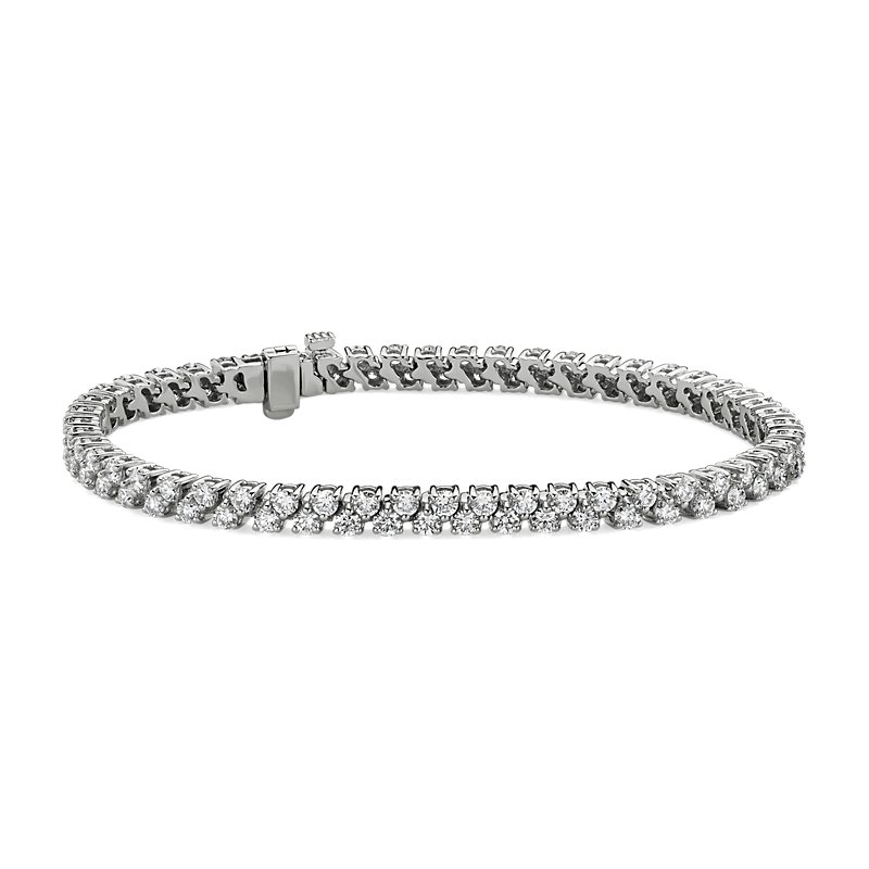Double Row Diamond Tennis Bracelet in 14k White Gold (5 ct. tw.)