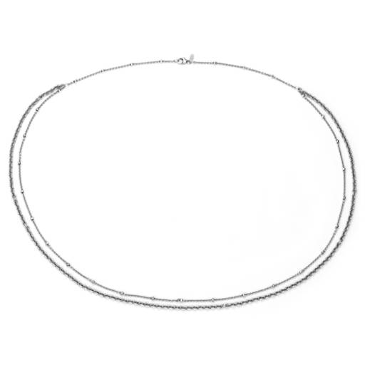 Blue Nile Dual Chain Necklace in Sterling Silver W68PvRyaY