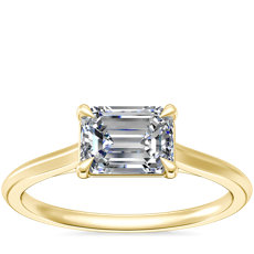 NEW East West Solitaire in 14k Yellow Gold