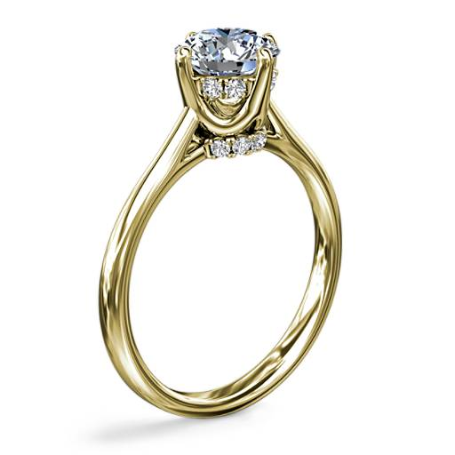 NEW East-West Solitaire Plus Diamond Engagement Ring