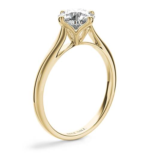 East-West Solitaire Engagement Ring