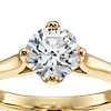East-West Solitaire Engagement Ring in 14k Yellow Gold