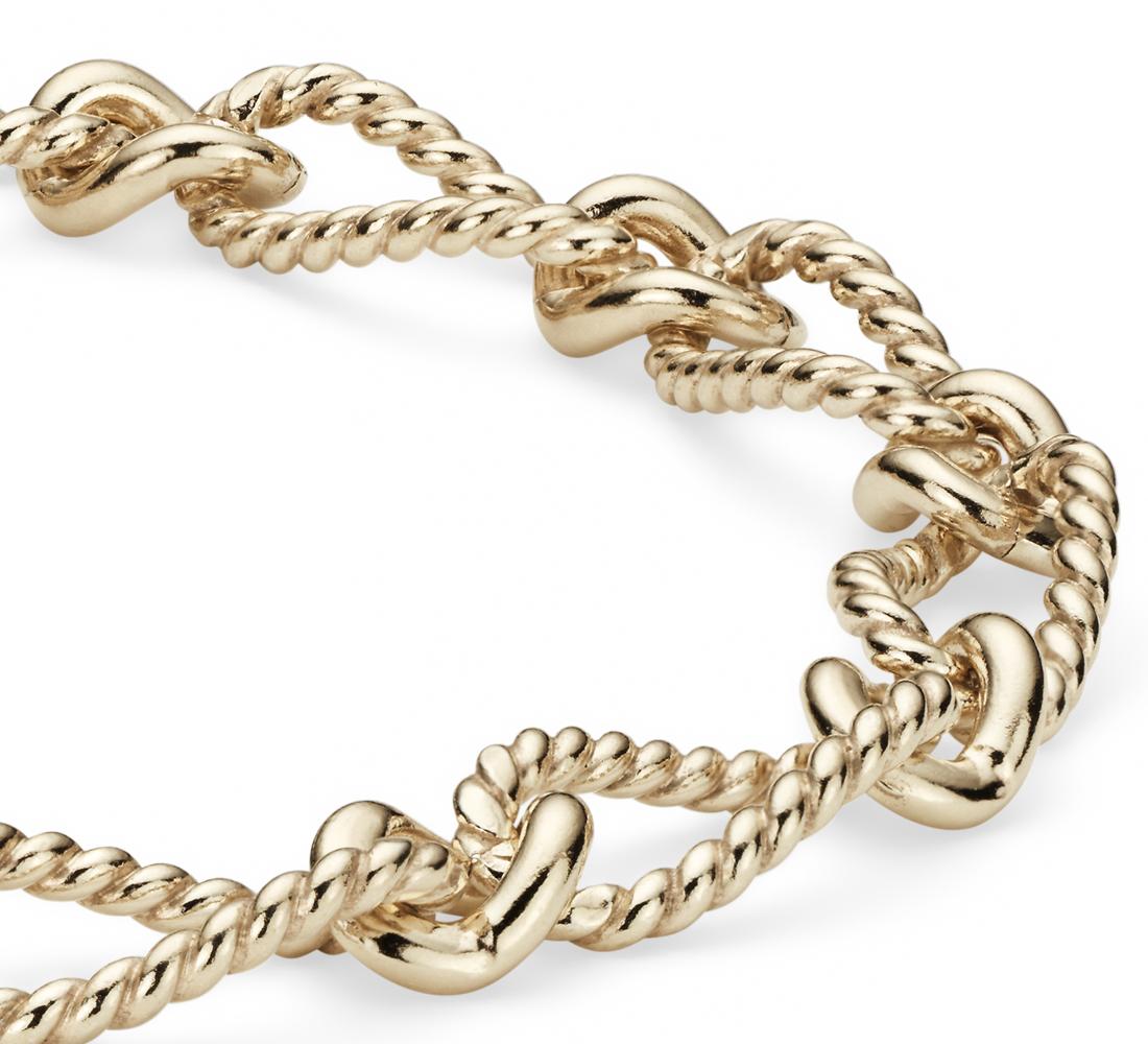 Elegante brazalete en oro amarillo de 14k