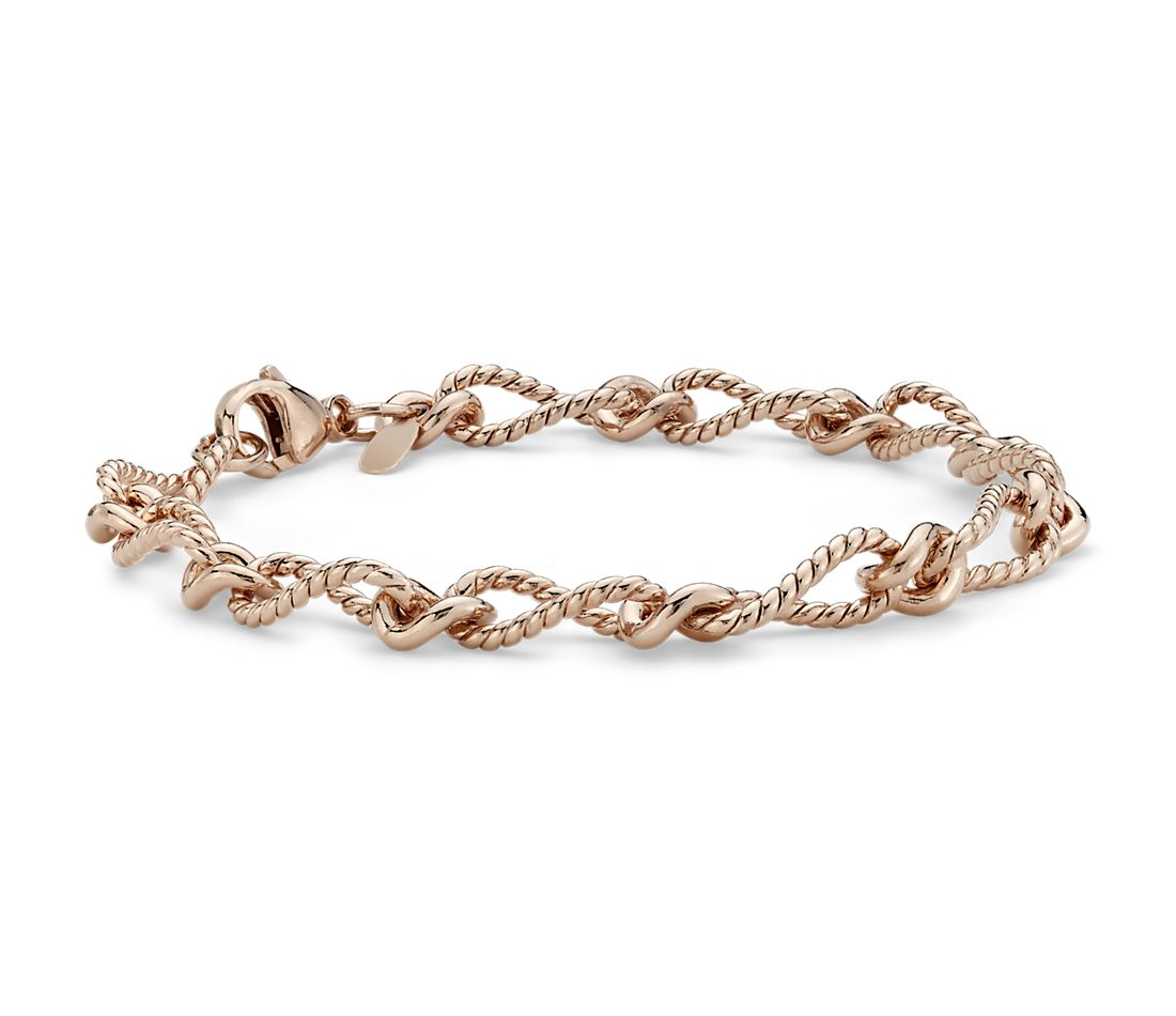 Elegant Bracelet in Rose Gold Vermeil