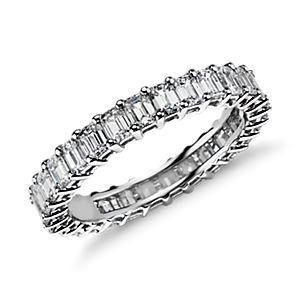 Emerald Cut Diamond Eternity Ring in Platinum (2 ct. tw.)