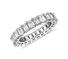 Emerald Cut Diamond Eternity Ring in Platinum (3.74 ct. tw.)