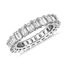 NEW Emerald Cut Diamond Eternity Ring in Platinum (3.74 ct. tw.)
